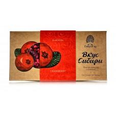 Шоколад темный «Вкус Сибири» с клюквой, 100г (Сибирский кедр)